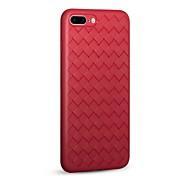 Кейс для Назначение Apple iPhone X iPhone 8 Ультратонкий Рельефный Задняя крышка Полосы / волосы Сплошной цвет Мягкий TPU для iPhone X