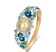 preiswerte -Damen Modeuhr Armband-Uhr Simulierter Diamant Uhr Chinesisch Quartz Chronograph Wasserdicht Legierung Band Freizeit Armreif Elegant