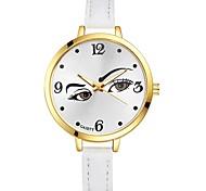 Damen Armbanduhr Chinesisch Quartz Großes Ziffernblatt PU Band Freizeit Elegant Mehrfarbig Schwarz Weiß Blau Rot Braun Rosa Lila Gelb