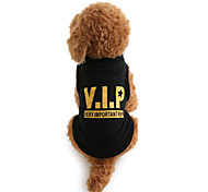 cheap -Dog Shirt / T-Shirt Dog Clothes Letter & Number Black Cotton Costume For Pets