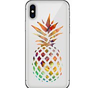 abordables -Funda Para Apple iPhone X iPhone 8 Plus Diseños Cubierta Trasera Fruta Suave TPU para iPhone X iPhone 8 Plus iPhone 8 iPhone 7 Plus
