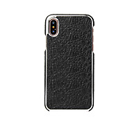 cheap -Case For Apple iPhone X Ultra-thin Back Cover Solid Color Hard Genuine Leather for iPhone X