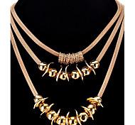 Недорогие -Жен. Подарок Мода Elegant Многослойный Ожерелья с подвесками Слоистые ожерелья , Сплав Ожерелья с подвесками Слоистые ожерелья , Для