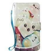 Недорогие -Кейс для Назначение Apple iPhone X Кошелек Бумажник для карт со стендом Чехол Продукты питания Твердый Искусственная кожа для iPhone X