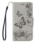 Недорогие -Кейс для Назначение Motorola G5 Plus G4 Plus Бумажник для карт Кошелек со стендом Флип Рельефный Чехол Бабочка Твердый Кожа PU для Мото