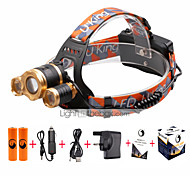 U'King Headlamps Headlight LED 4800 lm 3 4 Mode Cree XM-L T6 with Batteries and Charger Zoomable Adjustable Focus Compact Size Easy