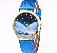 cheap -Women's Wrist watch Chinese Quartz Moon Phase PU Band Colorful Black White Blue Brown Green Pink Rose