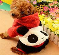 Кошка Собака Комбинезоны Одежда для собак Плюшевая ткань Пух Зима Весна/осень На каждый день Мультфильмы Красный Для домашних животных