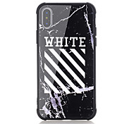 cheap -Case For Apple iPhone X iPhone 8 Shockproof Pattern Back Cover Word / Phrase Hard Tempered Glass for iPhone X iPhone 8 Plus iPhone 8