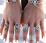 Недорогие -Жен. Массивные кольца Кольцо на кончик пальца , металлический Мода Сплав Геометрической формы Бижутерия Карнавал На выход