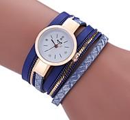 cheap -Women's Casual Watch Fashion Watch Bracelet Watch Chinese Quartz Imitation Diamond PU Band Casual Bohemian Tassels Black White Blue Grey