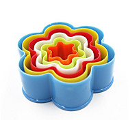 6 шт / комплект 6 размеров сливы цвету выпечки плесень пластиковые печенье пресс-формы кухонные инструменты выпечка