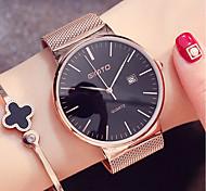 cheap -Men's Women's Fashion Watch Dress Watch Wrist watch Japanese Quartz Calendar / date / day Stainless Steel Band Minimalist Cool Black
