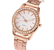 cheap -Women's Wrist watch Fashion Watch Casual Watch Quartz Casual Watch Stainless Steel Band Charm Luxury Casual Elegant Cool Silver Gold Rose