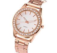 preiswerte -Damen Quartz Armbanduhr Armbanduhren für den Alltag Edelstahl Band Charme Luxus Freizeit Elegant Modisch Cool Silber Gold Rotgold