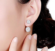 Women's Stud Earrings Front Back Earrings Basic Crystal Alloy Circle Jewelry Other Formal