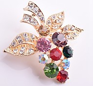 cheap -Women's Synthetic Diamond Brooches - Imitation Diamond Grape Classic, Fashion Brooch Gold For Daily