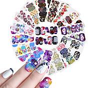 Недорогие -25 Цветы Очаровательный Наклейки для ногтей Ножницы Наклейка для ногтей Светло-фиолетовый Украшение для дизайна ногтей
