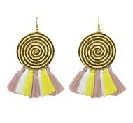 cheap -Women's 2pcs Drop Earrings , Tassel Basic Fashion Hemp Rope Cord Geometric Sector Jewelry Daily Date Costume Jewelry