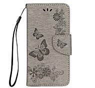 Недорогие -Кейс для Назначение Apple iPhone X iPhone 8 Кошелек Бумажник для карт со стендом Флип Чехол Бабочка Твердый Искусственная кожа для iPhone