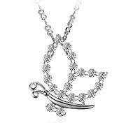 Women's Pendant Necklace Chain Necklace Silver Plated Pendant Necklace Chain Necklace , Animals Fashion Wedding Engagement