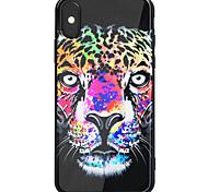 Недорогие -Кейс для Назначение Apple iPhone X iPhone 8 Plus Зеркальная поверхность С узором Задняя крышка Животное Твердый Акриловое волокно для