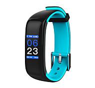Недорогие -hhy новый умный браслет bluetooth p1 плюс сердечный ритм кровяное давление сна контроль спортивный браслет android ios красочный экранный