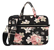 cheap -13.3 14.1 15.6 inch Rose Pattern Laptop Shoulder Bag with Strap Hand Bag for Surface/Dell/HP/Samsung/Sony etc