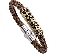 cheap -Men's Leather Bracelet - Hip-Hop Fashion Circle Coffee Bracelet For Going out Street