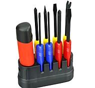 Недорогие -9 в 1 профессиональный ремонт дома отвертка набор рукоятка отвертка бит портативный мобильный телефон компьютер инструменты