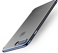 abordables -Funda Para Apple iPhone X iPhone 8 Plus Cromado Funda Trasera Color sólido Suave TPU para iPhone X iPhone 8 Plus iPhone 8 iPhone 7 Plus