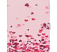 Недорогие -Кейс для Назначение Apple iPad Air 2 iPad mini 4 Кошелек Бумажник для карт со стендом Чехол С сердцем Твердый Искусственная кожа для iPad