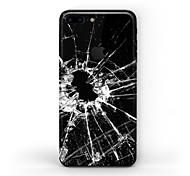Недорогие -1 ед. Наклейки для Антибликовое покрытие Защита от царапин Черный и белый Узор PVC iPhone 7 Plus