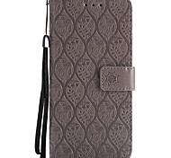 cheap -Case For Samsung Galaxy S8 Plus S8 Card Holder Wallet with Stand Flip Pattern Full Body Cases Solid Color Lace Printing Hard PU Leather