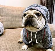 Недорогие -Собака Толстовки Одежда для собак На каждый день Английский Кофейный Синий Костюм Для домашних животных