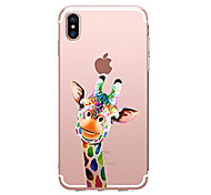 abordables -Funda Para Apple iPhone X iPhone 8 Transparente Diseños Funda Trasera Animal Suave TPU para iPhone X iPhone 8 Plus iPhone 8 iPhone 7 Plus