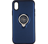 cheap -Case For Apple iPhone X iPhone 8 iPhone 8 Plus iPhone 6 iPhone 6 Plus iPhone 7 Plus iPhone 7 with Stand Ring Holder Back Cover Solid Color