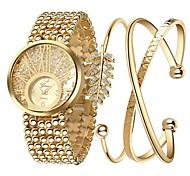 preiswerte -Damen Armband-Uhr Pavé-Uhr Facettierte Kristalluhren Chinesisch Quartz Chronograph leuchtend Imitation Diamant Großes Ziffernblatt