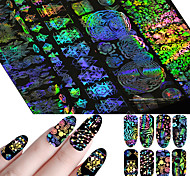 cheap -8 Flower Nail Decals Nail Art DIY Tool Accessory Nail Wraps Nail Sticker As Picture Nail Decoration