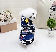 Кошка Собака Плащи Толстовки Комбинезоны Платья Одежда для собак Стиль На каждый день Водонепроницаемый Сохраняет тепло Спорт Мода
