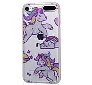 cheap -Case For Apple Ipod Touch5 / 6 Case Cover High Penetrating Powder IMD Rainbow Horse Soft TPU Phone Case