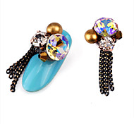 cheap -2PCS Luxury Set Auger Alloy Jewel Nail Art Decoration