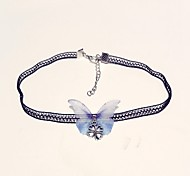 cheap -Women's Lace Choker Necklace - Classic Fashion Butterfly Light Blue Necklace For Daily