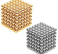 Недорогие -Магнитные игрушки Неодимовый магнит Магнитные шарики 216*2pcs 3mm Магнит Металл Сфера Цилиндрическая Универсальные Игрушки Взрослые