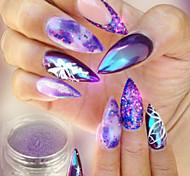 Недорогие -1шт Роскошь Блестящие Гель для ногтей Порошок блеска порошок Советы для ногтей Дизайн ногтей