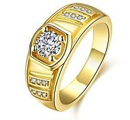 Недорогие -Муж. Классические кольца Цирконий Классика Розовое золото Позолота Геометрической формы Бижутерия Повседневные Для вечеринок