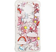 cheap -Case For Motorola MOTO E4 Shockproof Flowing Liquid Pattern Back Cover Unicorn Soft TPU for Moto G5s Moto E4
