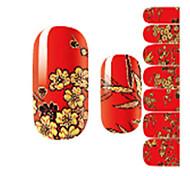 abordables -1pcs Autocollant pour ongles Modèle d'estampage d'ongles Nail Art Design Décalques pour ongles