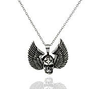cheap -Men's Women's Skull Wings / Feather Shape Vintage Fashion European Pendant Necklace , Luminous Stone Alloy Pendant Necklace Gift Going out