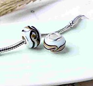cheap -DIY Jewelry 1 pcs Beads Glass Alloy White/Black Ball Bead 0.3 cm DIY Necklace Bracelet
